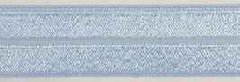 Biaisband elastisch licht blauw