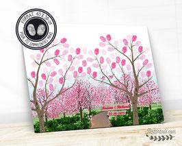 """Arbre à empreintes """"Allée de cerisiers en fleurs"""""""