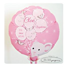 Ballon personnalisé : éléphant et papillons avec ballons