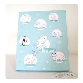 Tableau prénom à personnaliser : les animaux polaires