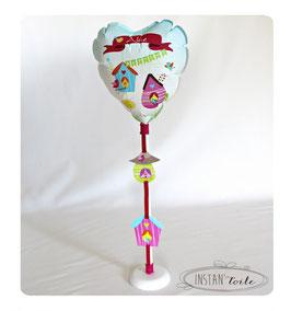 """Ballon personnalisé : """"nichoirs et oiseaux colorés"""""""