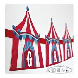 """Guirlande personnalisée """"chapiteau de cirque"""""""