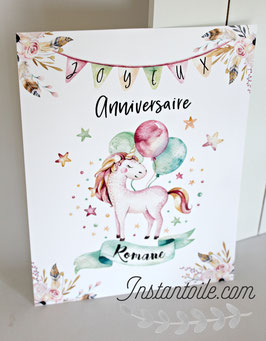 Kit anniversaire  - thème licorne