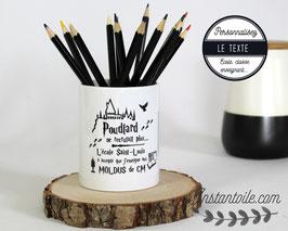 """Pot à crayons """"Harry Potter ambiance Poudlard""""  : cadeau de fin d'année scolaire pour maitre, maitresse, enseignant, professeur, école, collège..."""