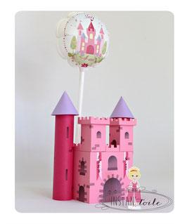 Chateau de princesse et ballon à personnaliser