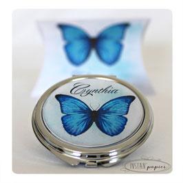 Miroir papillon bleu