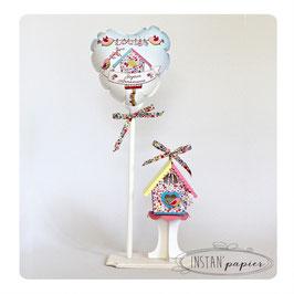 Ballon et Nichoir Liberty Phoebe multicolore pour décoration