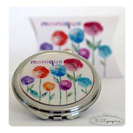 Miroir aquarelle de coquelicots multicolores