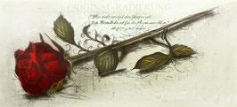 Original-Radierung Rose - 1617