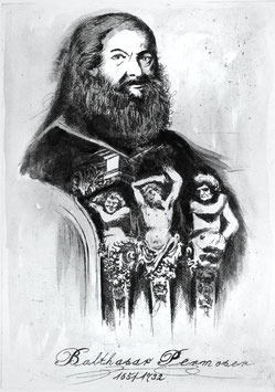 Balthasar Permoser - Radierung