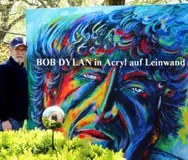 UNIKAT - BOB DYLAN in Acryl auf Leinwand