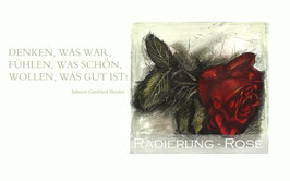 Original-Radierung - Rose - 2010qu