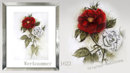 Original-Radierung - Rose - 1623