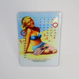 Timmendorfer Strand Blechpostkarte / Blechkalender