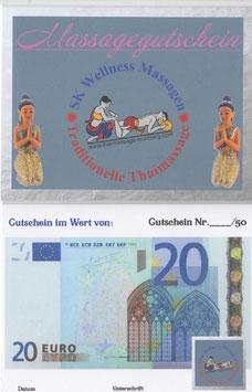 Massage /Wertgutschein 20 Euro