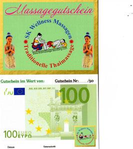 Massage/Wertgutschein 100 Euro