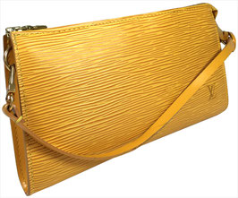 Louis Vuitton Pochette Accessoires Clutch aus Epi Leder in Tassil Gelb