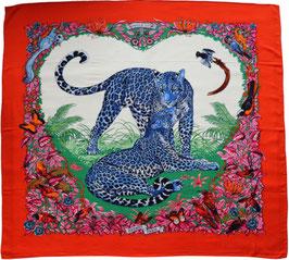 Hermès Schal aus Kaschmir und Seide 'JUNGLE LOVE' Design von Robert Dallet