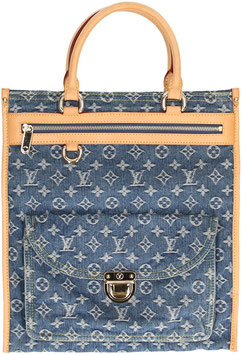 Louis Vuitton San Plat Henkeltasche aus Monogram Denim Canvas