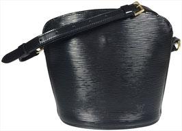 Louis Vuitton Drouot Umhängetasche aus Epi Leder in Kouril Schwarz
