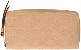 Louis Vuitton Geldbörse Zippy aus Monogram Empreinte Leder in Dune