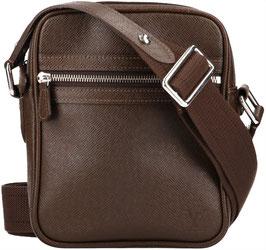 Louis Vuitton Dimitri Umhängetasche aus Taiga Leder in Grizzly Braun