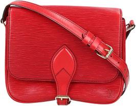 Louis Vuitton Cartouchière Umhängetasche aus Epi Leder in Castillian Rot