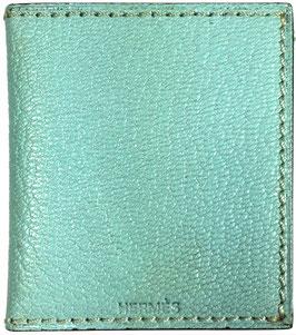HERMÈS Fotoetui aus Epsom Leder in Blau