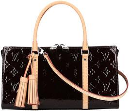 Louis Vuitton Neo Triangle Henkeltasche aus Monogram Vernis Leder in Amarante