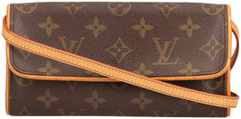 Louis Vuitton Pochette Twin PM Clutch aus Monogram Canvas
