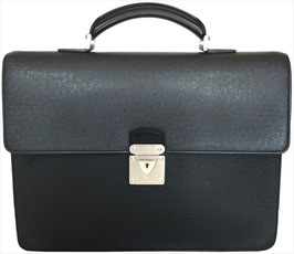 Louis Vuitton Serviette Laguito Aktentasche aus Taiga Leder in Ardoise Grau