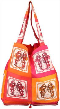 Hermès Sac Silkypop Schultertasche aus Leder und Seide
