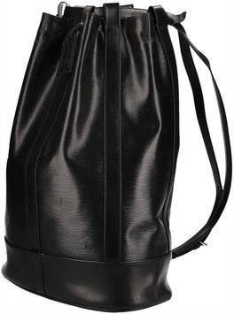 Louis Vuitton Randonnée Schultertasche aus Epi Leder in Kouril Schwarz