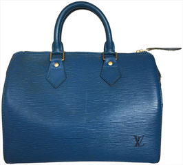 Louis Vuitton Speedy 25 Henkeltasche aus Epi Leder in Toledo Blau