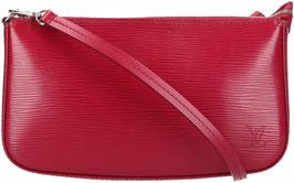 Louis Vuitton Pochette Accessoires NM Clutch aus Epi Leder in Fuchsia