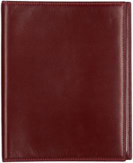 Hermès Agenda aus glattem Leder in Bordeaux Rot