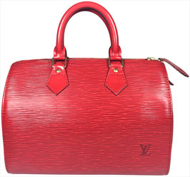 Louis Vuitton Speedy 25 Henkeltasche aus Epi Leder in Castillian Rot