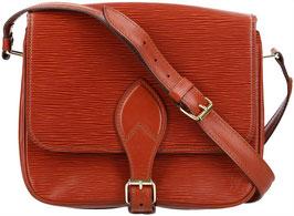 Louis Vuitton Cartouchière Umhängetasche aus Epi Leder in Kenyan Fawn Braun