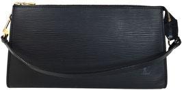 Louis Vuitton Pochette Accessoires Clutch aus Epi Leder in Kouril Schwarz
