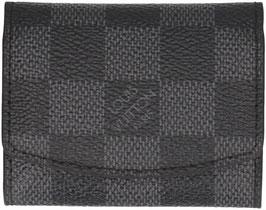 Louis Vuitton Etui für Manschettenknöpfe aus Damier Graphite Canvas mit Manschettenknöpfen