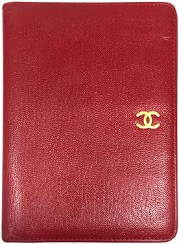 CHANEL Geldbörse aus Leder in Rot