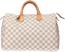 Louis Vuitton Speedy 35 Henkeltasche aus Damier Azur Canvas