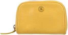 CHANEL CC Etui aus Leder in Gelb