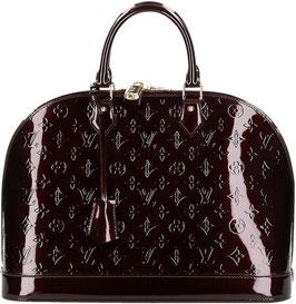 Louis Vuitton Alma GM Henkeltasche aus Monogram Vernis Leder in Amarante