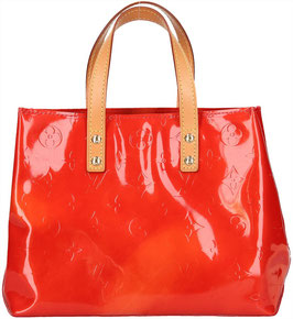 Louis Vuitton Reade PM Henkeltasche aus Monogram Vernis Leder in Rot