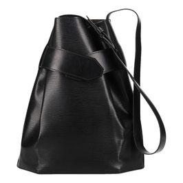 Louis Vuitton Sac D`Épaule GM Schultertasche aus Epi Leder in Kouril Schwarz