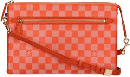 Louis Vuitton Modul Umhängetasche aus Damier Couleur Canvas in Piment Orange