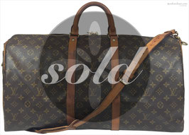 Louis Vuitton Keepall 55 Reisetasche aus Monogram Canvas mit Schulterriemen