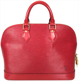 Louis Vuitton Alma PM Henkeltasche aus Epi Leder in Castillian Rot