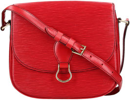 Louis Vuitton Saint Cloud GM Umhängetasche aus Epi Leder in Castillian Rot